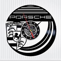 Настенные часы пластинки Porsche Порше, подарок владельцу, фанатам, любителям, 0063