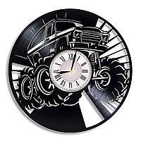 Настенные часы из пластинки, Monster Truck Монстер Трак, подарок фанатам, любителям, 0522