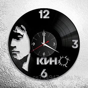 Настенные часы из пластинки группа КИНО, Виктор Цой, подарок фанатам, любителям, 0050