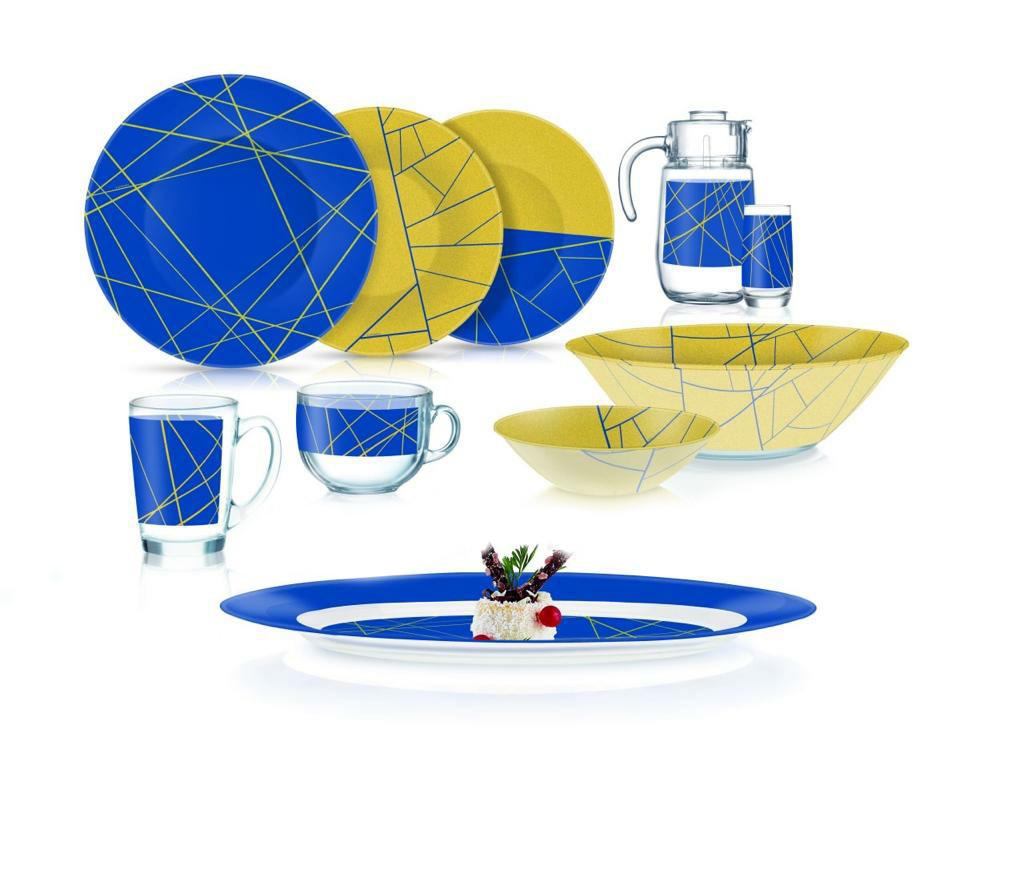 Столовый сервиз Luminarc Delnice Blue 46 предметов на 6 персон