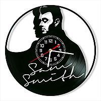 Настенные часы из пластинки, Sam Smith Сэм Смит, подарок фанатам, любителям, 0433-2