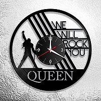 Часы из пластинки, группа Квин Фредди Меркьюри Queen Freddie Mercury, подарок фанатам, любителям, 0377