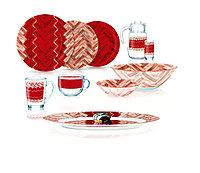 Столовый сервиз Luminarc Woodie Red 46 предметов на 6 персон