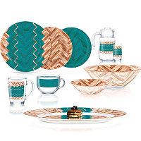Столовый сервиз Luminarc Woodie Turquoise 46 предметов на 6 персон