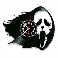 Настенные часы из пластинки фильм Крик Scream, подарок фанатам, любителям, 0072