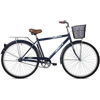 """Велосипед FOXX 28"""" FUSION синий, сталь, размер 20"""" + передняя корзина"""