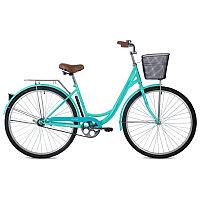 """Велосипед FOXX 28"""" VINTAGE зеленый, сталь, размер 18"""" + передняя корзина"""