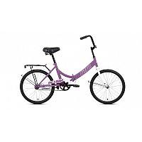 """Велосипед ALTAIR CITY 20 (20"""" 1 ск. рост 14"""" скл.) 2020-2021, фиолетовый/серый, RBKT1YF01007"""