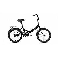 """Велосипед ALTAIR CITY 20 (20"""" 1 ск. рост 14"""" скл.) 2020-2021, черный/серый, RBKT1YF01002"""