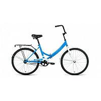 """Велосипед ALTAIR CITY 24 (24"""" 1 ск. рост 16"""" скл.) 2020-2021, голубой/белый, RBKT1YF41004"""