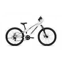 "Велосипед FORWARD RISE 24 2.0 disc (24"" 7 ск. рост 11"") 2020-2021, белый/черный, RBKW1J347020"