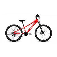 "Велосипед FORWARD RISE 24 2.0 disc (24"" 7 ск. рост 11"") 2020-2021, красный/белый, RBKW1J347010"