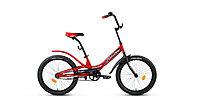 """Велосипед FORWARD SCORPIONS 20 1.0 (20"""" 1 ск. рост 10.5"""") 2020-2021, красный/черный, RBKW15N01002"""