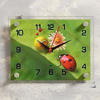 """Часы настенные, серия: Животный мир, """"Божья коровка"""", 20х26 см, микс"""