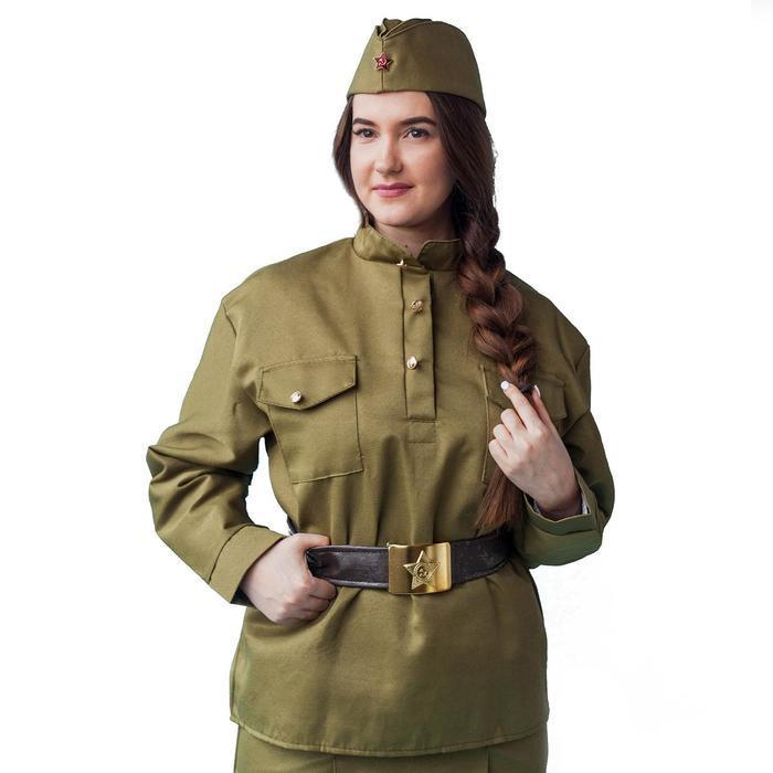 Гимнастёрка военная женская, люкс, р. 44-46 - фото 1