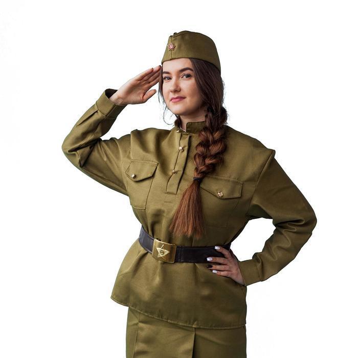 Гимнастёрка военная женская, люкс, р. 44-46 - фото 2