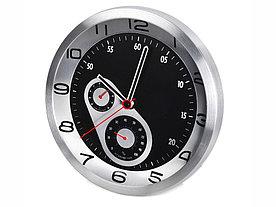 Часы настенные Астория, серебристый/черный (Р)