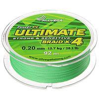 Леска плетёная Allvega Ultimate светло-зелёная 0.20, 92 м