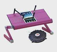 Стол-трансформер для ноутбука с кулером и фиксаторами для книг