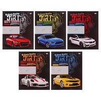 Тетрадь 24 листа в линейку 'Машины и тигр', обложка мелованный картон, блок офсет, МИКС (комплект из 25 шт.)