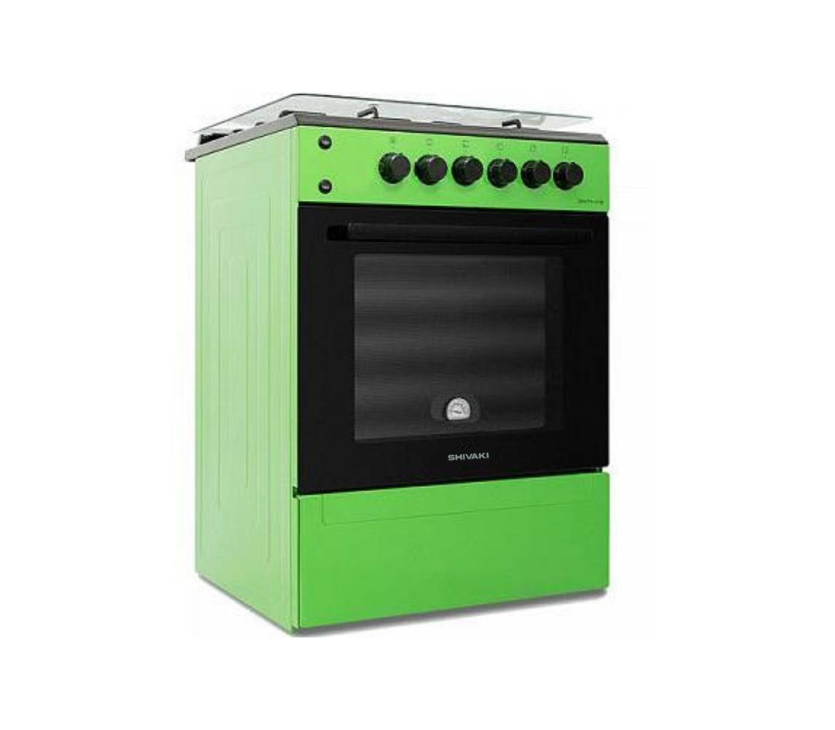 Газ плита Shivaki Apetito50-10E зеленый