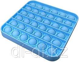 Pop it Fidget Сенсорная игрушка антистресс Вечная пупырка, синий квадрат