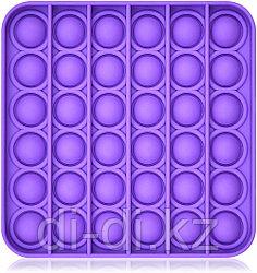 Pop it Fidget Сенсорная игрушка антистресс Вечная пупырка, фиолетовый квадрат