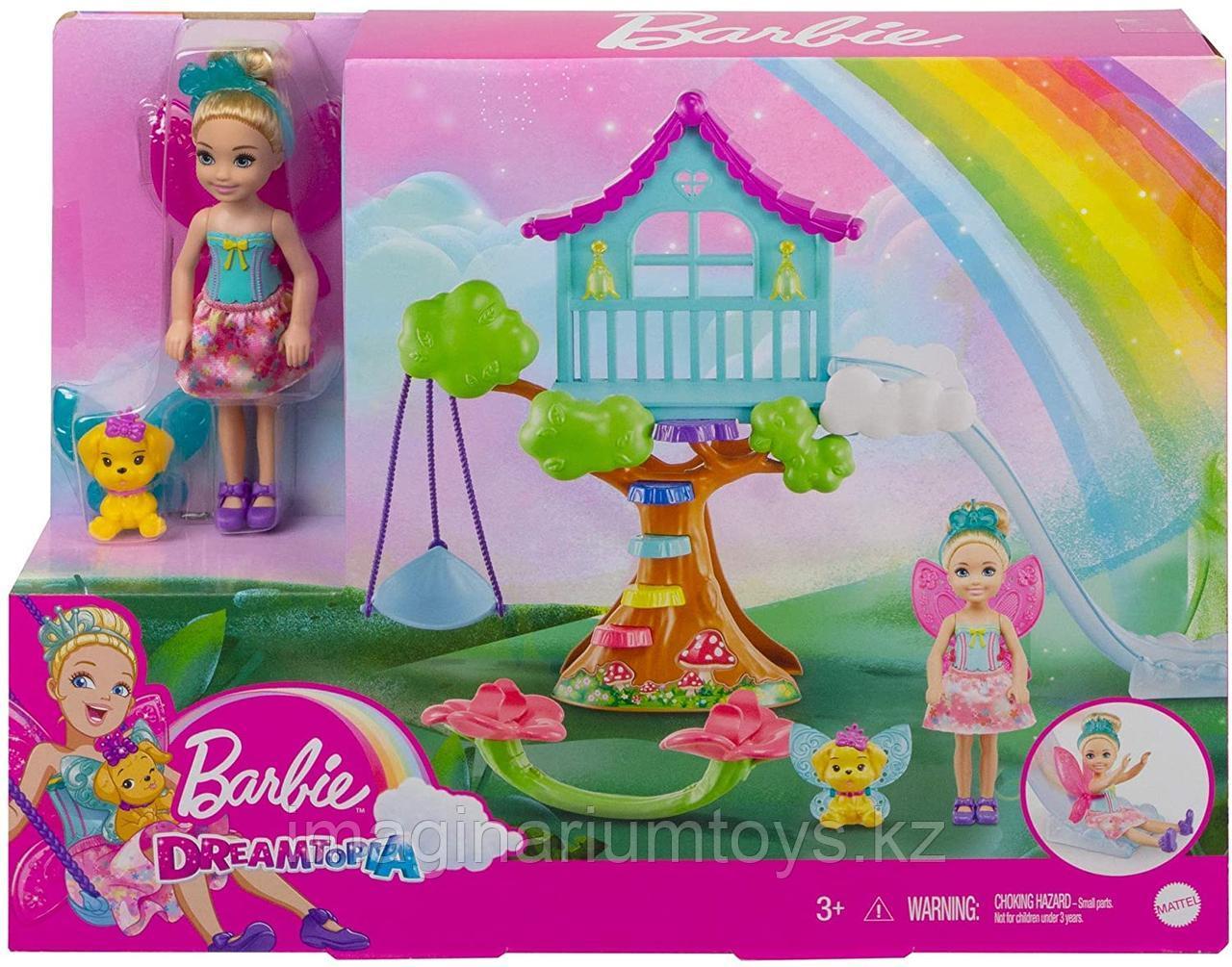 Barbie игровой набор Домик с качелями Челси фея