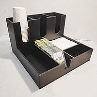 Диспенсер №4 (ОРГАНАЙЗЕР) для кофейных стаканов, сахара, салфеток, чая и мешалок