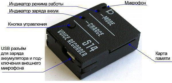 "Цифровой мини-диктофон ""Сорока-14.3"""
