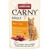 Animonda 85г с говядиной и курицей Пауч для взрослых кошек Carny Adult beef + chicken