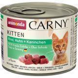 Animonda 200г с говядиной курицей и кроликом Консервы для котят Carny Kitten - Beef, Chicken Rabbit