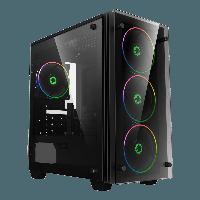 Корпус ПК без БП GameMax Mini Stratos H609 MATX, 4х120, 411,5х193х415mm