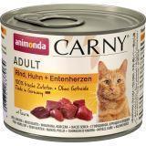 Animonda 200г с говядиной курицей и уткой Консервы для кошек Carny Adult Cat - Beef, Chicken Duck Heart