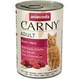 Animonda 400г с говядиной и сердцем Консервы для кошек Carny Adult Cat - Beef Heart