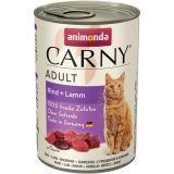 Animonda 400г с говядиной и ягненком Консервы для кошек Carny Adult Cat - Beef Lamb