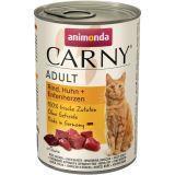Animonda 400г с говядиной курицей и уткой Консервы для кошек Carny Adult Cat - Beef, Chicken Duck Heart