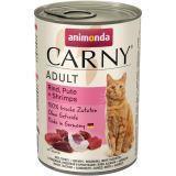 Animonda 400г с говядиной, индейкой и креветками Консервы для кошек Carny Adult Cat - Beef, Turkey Shrimps
