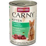 Animonda 400г с говядиной, индейкой и кроликом Консервы для кошек Carny Adult Cat - Beef, Turkey Rabbit