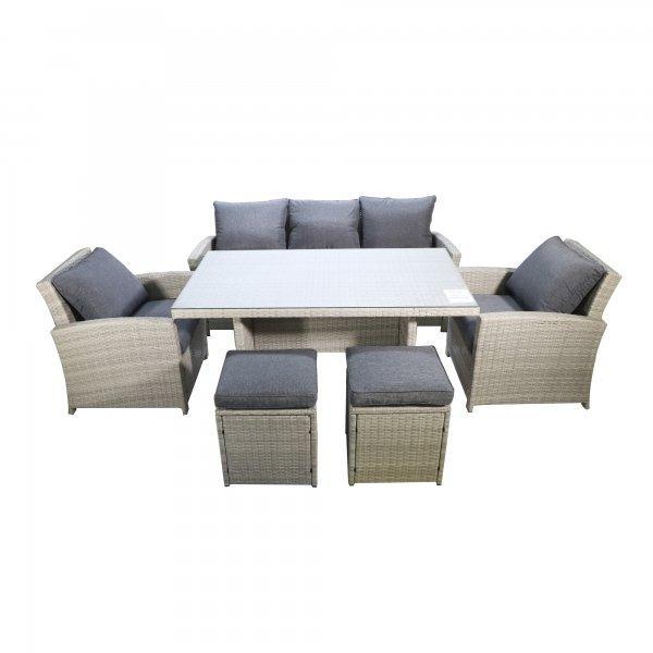 "Комплект мебели ""Борсу"" (Стол+Кресло 2+Диван+Пуфики 2) - фото 2"