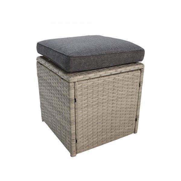 "Комплект мебели ""Борсу"" (Стол+Кресло 2+Диван+Пуфики 2) - фото 5"