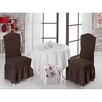 Чехлы на стулья 2 шт., цвет коричневый