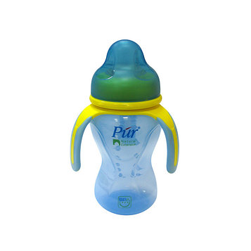 Поильник с ручками PUR, широкое горло, 250 мл, цвета МИКС