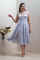 Женское осеннее голубое нарядное платье Condra 4297 46р.