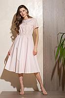 Женское летнее хлопковое розовое платье Condra 4294 нежный_розовый 46р.