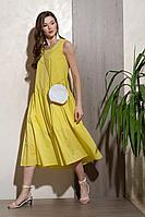 Женское летнее хлопковое желтое платье Condra 4303 52р.