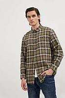 Рубашка мужская Finn Flare, цвет темно-зеленый, размер M