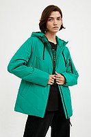 Куртка женская Finn Flare, цвет зеленый, размер S