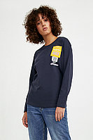 Футболка женская Finn Flare, цвет темно-синий, размер M