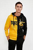 Толстовка мужская Finn Flare, цвет желтый, размер 2XL
